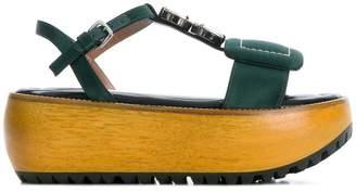 Marni jeweled platform sandals