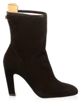 Stuart Weitzman Brooks Suede Booties