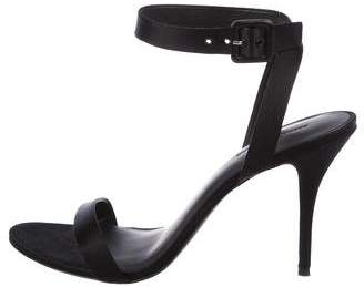 Alexander Wang Satin Ankle Strap Sandals