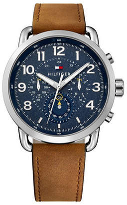 Tommy Hilfiger Briggs Multi Stainless Steel Leather Watch