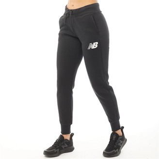 New Balance Womens Core Tapered Sweat Pants Black