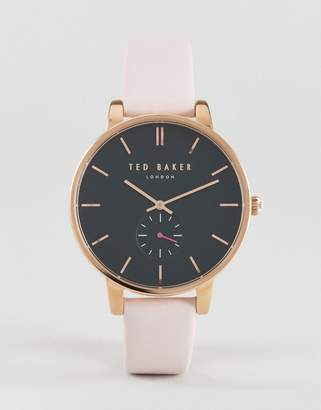 Ted Baker Olivia leather watch in pink