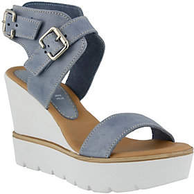 Spring Step Azura by Leather Wedge Sandals - Leticia