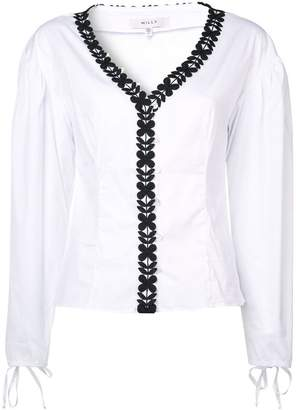 Milly floral trim blouse