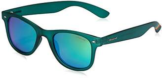 Polaroid Unisex's PLD 6009/N M K7 PVJ Sunglasses, Transparent Dark Green Grey Speckled Pz