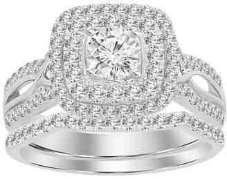MODERN BRIDE Womens 1 CT. T.W. Genuine White Diamond 14K White Gold Bridal Set