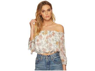 J.o.a. Off the Shoulder Crop Top Women's Clothing