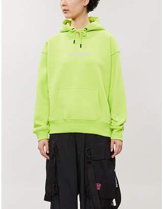 Boy London Logo-print boyfriend-fit cotton-jersey hoody