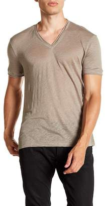 John Varvatos Collection Linen V-Neck T-Shirt