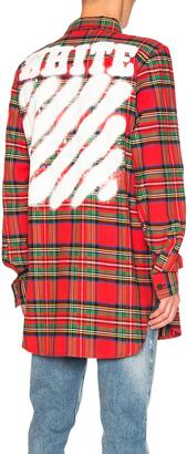 OFF-WHITE Diagonal Spray Check Shirt $543 thestylecure.com