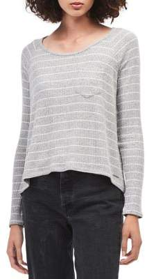 Calvin Klein Jeans Ribbed Stripe Hi-Lo Knit Top