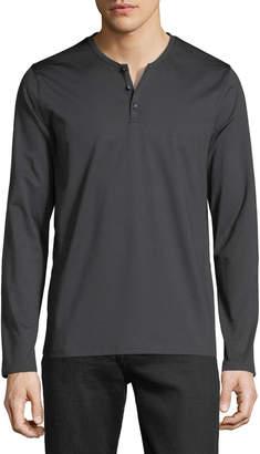 Neiman Marcus Men's Tech-Fabric Henley T-Shirt