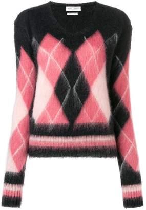 Ballantyne diamond knit sweater