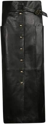 Alberta Ferretti Button-up Midi Skirt