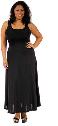24/7 Comfort Apparel Plus Size Maxi Dresses Sleeveless Scoop Neck for Womens Plus Size Clothing - Made in USA - 2XL