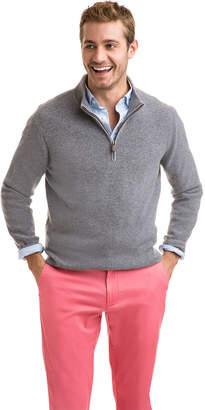 Vineyard Vines Cashmere Mock 1/4-Zip Sweater