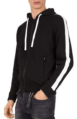 The Kooples Stripe-Sleeve Hoodie