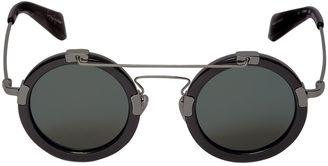 Round Frame & Wire Sunglasses $512 thestylecure.com