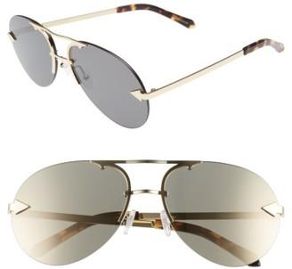 Women's Karen Walker Love Hangover 60Mm Aviator Sunglasses - Crazy Tortoise/ Gold $250 thestylecure.com