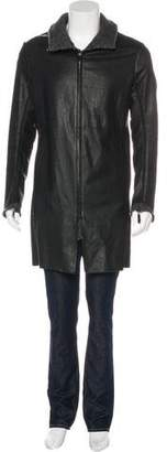 Isaac Sellam Leather Zip Overcoat