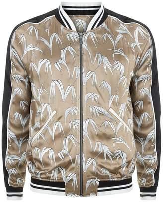 Sandro Palm Print Bomber Jacket