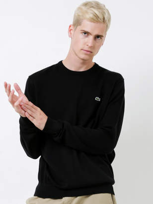 Lacoste Basic Crew Neck Sweater in Black