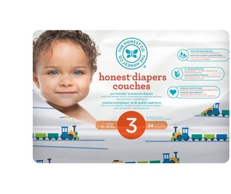 The Honest Company Diapers, Size 3, Trains