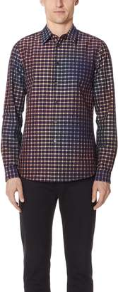 Paul Smith Long Sleeve Tailored Fit Plaid Shirt