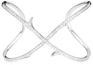 Stephen Webster Thorn Infinite 18k White Gold & Diamond Cuff