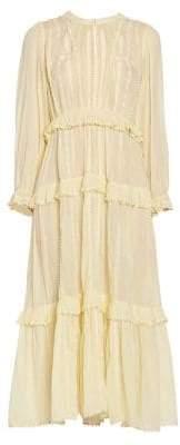 Etoile Isabel Marant Women's Aboni Tiered Maxi Dress - Light Yellow - Size 42 (10)