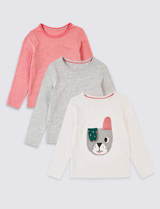 Marks and Spencer 3 Pack Dog Tops (3 Months - 7 Years)