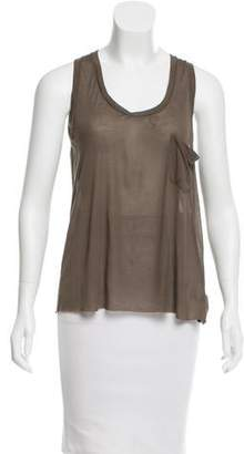 Enza Costa Semi-Sheer Racerback Top