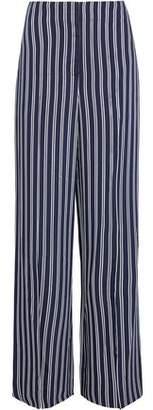 Diane von Furstenberg Striped Twill Wide-Leg Pants