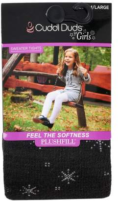 Cuddl Duds Girls 4-16 Plushfill Snowflake Sweater Tights
