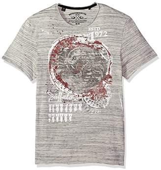 Buffalo David Bitton Men's Tatol Short Sleeve Crew Neck Graphic Fashion T-Shirt