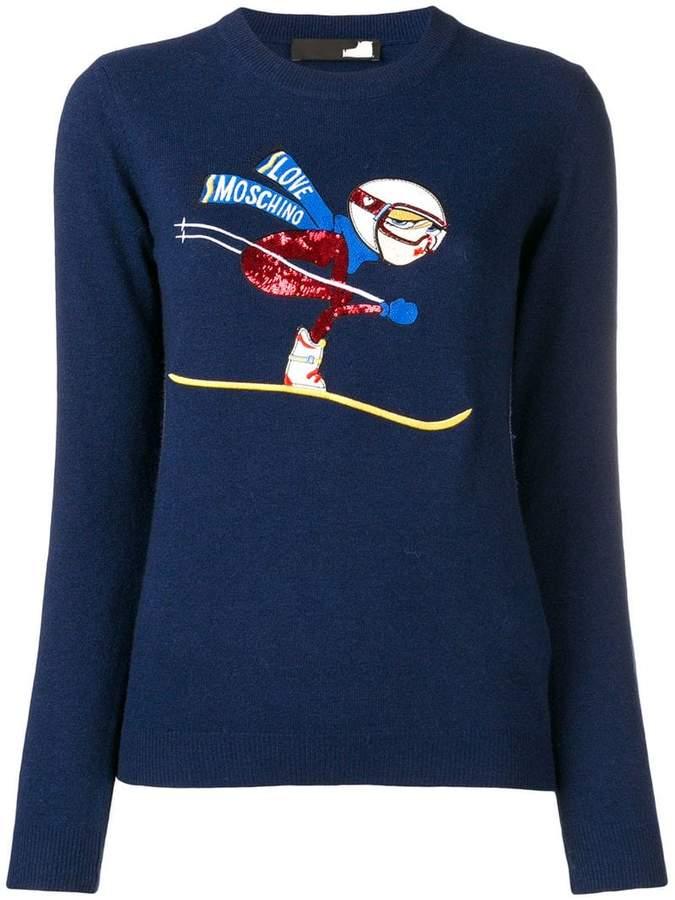 ski embroidery jumper