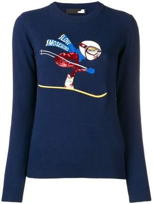 Love Moschino ski embroidery jumper