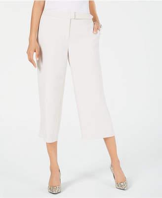 Alfani Petite Belted Culotte Pants