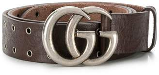 Gucci Double G buckle eyelet belt