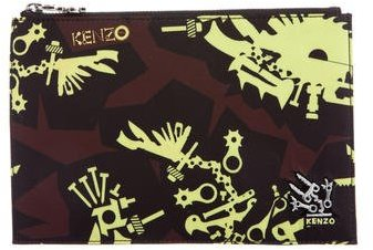 Kenzo Kenzo Printed Monster Clutch w/ Tags