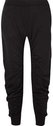 Stella McCartney Ruched Cotton-jersey Track Pants - Black