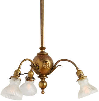 Rejuvenation Early Electric 3-Light Chandelier w/ Cameo Medallions