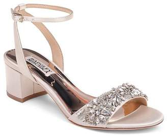 Badgley Mischka Women's Ivanna Crystal-Embellished Block Heel Sandals