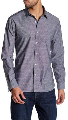 Jeff Radford Embroidered Long Sleeve Tailored Fit Shirt