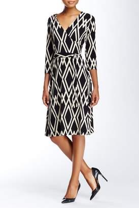 Leota Print Jersey Faux Wrap Dress