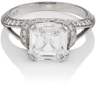 McTeigue & McClelland Women's White-Diamond Ribbon Ring