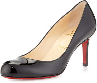 Christian Louboutin Simple Patent Red Sole Pumps