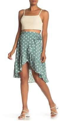 MinkPink Misty Polka Dot Ruffle Wrap Skirt