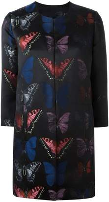 Philipp Plein butterfly patterned coat