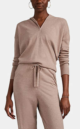 Live The Process Women's Cashmere-Blend Half-Zip Hoodie - Natural